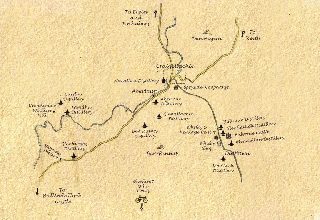 Craigellachie Lodge Speyside Map